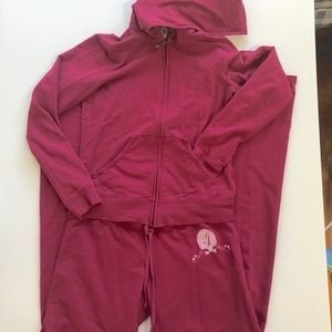 Juicy Couture hooded track suit, Sz. S